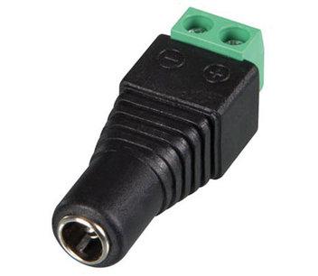 DC contra stekker 5.5 x 2.1mm naar schroefterminal