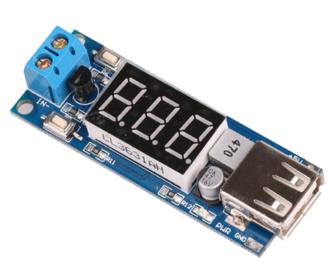 DC-DC Step-down buck converter met voltmeter
