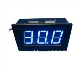 Digitale voltmeter voor paneel 3 tot 30 v Blauw