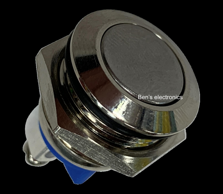 Drukknop puls rvs inbouw 16mm