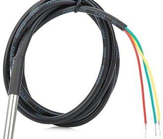 DS18B20 met roestvrijstalen kop en  kabel 3 meter