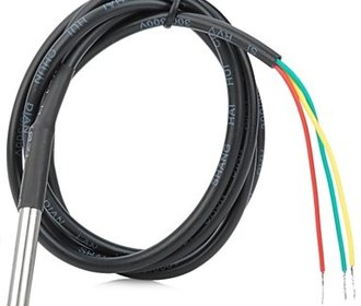 DS18B20 met roestvrijstalen kop en kabel