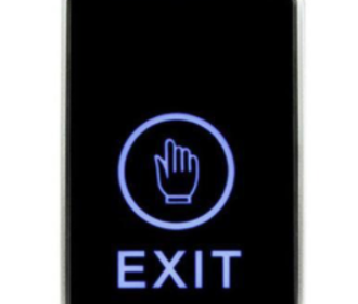 Exit button capacitief