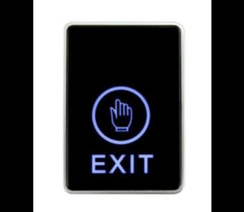 Exit button capacitief