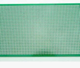 Experimenteer-printplaat dubbelzijdig afm.  22 x 10 cm