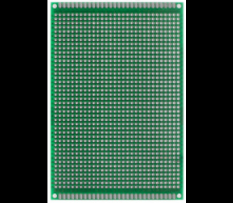 Experimenteer-printplaat dubbelzijdig afm.  9 x 15 cm