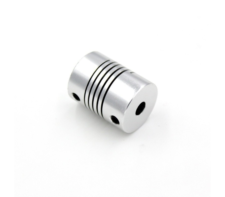 Flexibele motor koppeling 5mm naar 5mm