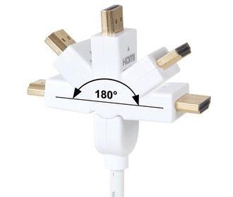 HDMI kabel 90° HDMI PLUG NAAR 90° HDMI PLUG