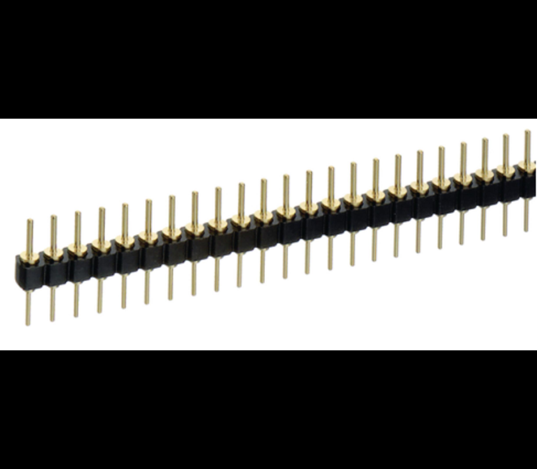 Header 40 pins male male dip (ronde pinnen)