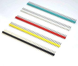 Header male strip gekleurd 5 kleuren 40 pins
