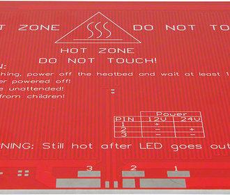 Heatbed 214x214mm 12-24VDC Reprap