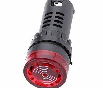 Inbouw buzzer met rode led