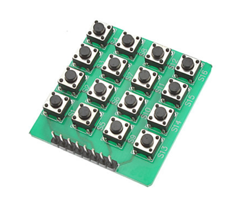 Keypad matrix 4x4 button switch