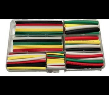 Krimpkous set in kunststof box 150 stuks kleuren