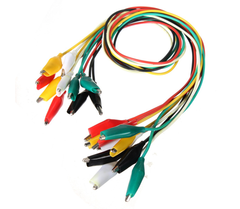 Krokodillen kabels ongv. 45cm