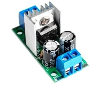 L7805CV  Module spannings regelaar input AC en DC