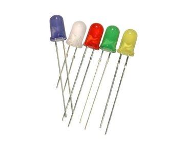 Led 3 mm geel diffuus