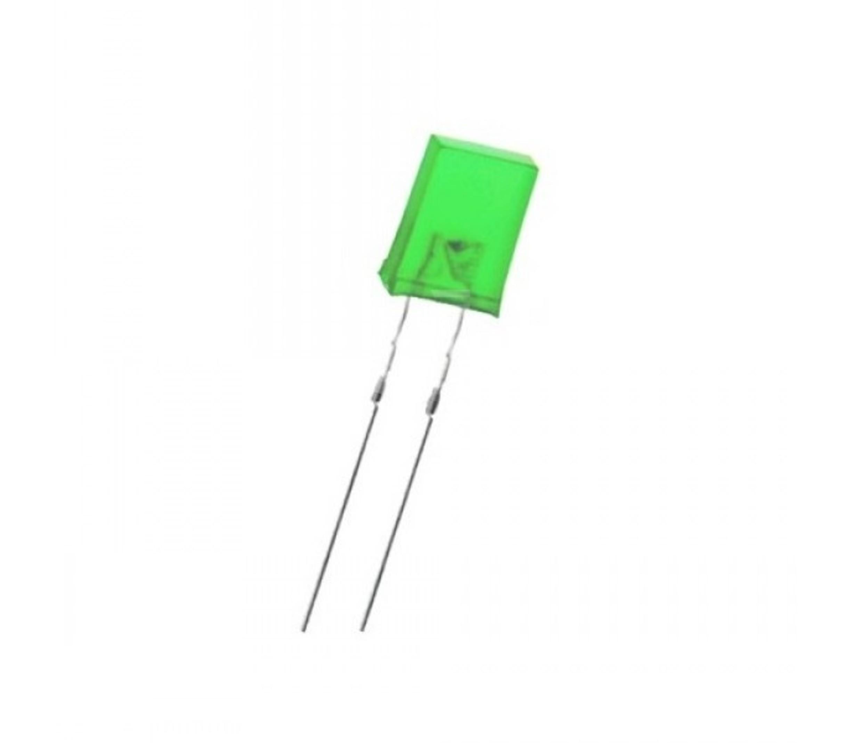 Led diffuus rechthoekig groen