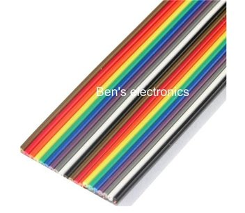 Lint flat kabel 20 draads per 0,5 meter awg28