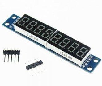 Maxim7219 8x7 seg spi display