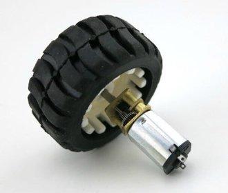 Micro motor met rubber wiel