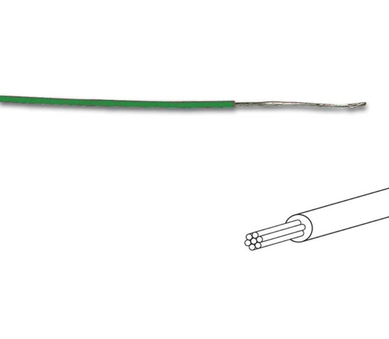 MONTAGEDRAAD  Groen 0.2 mm²  - Soepele kern 100 mtr rol
