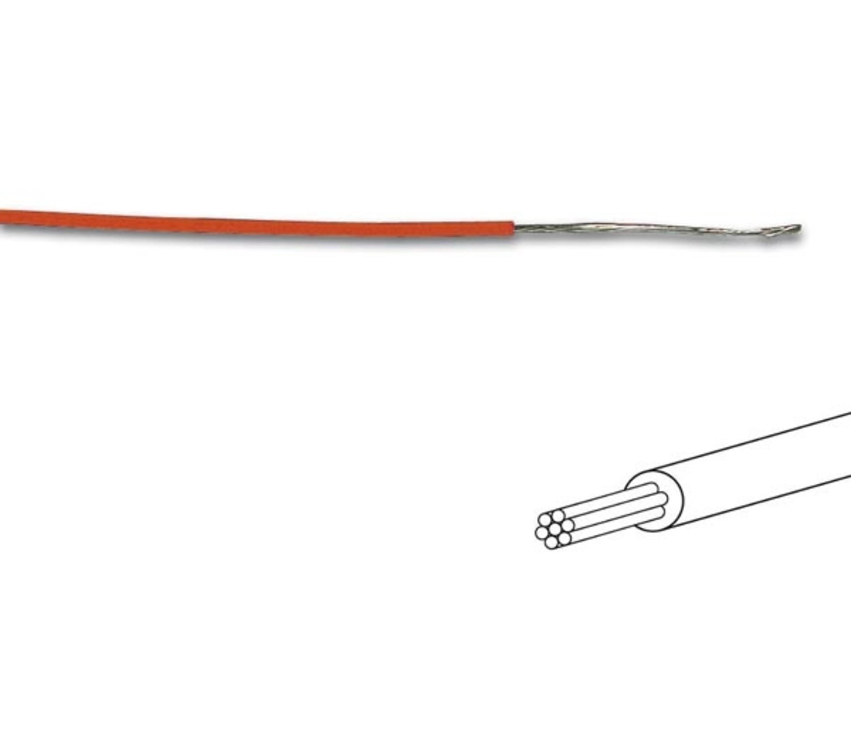 MONTAGEDRAAD  Oranje 0.2 mm²  -Soepele kern 100 mtr rol