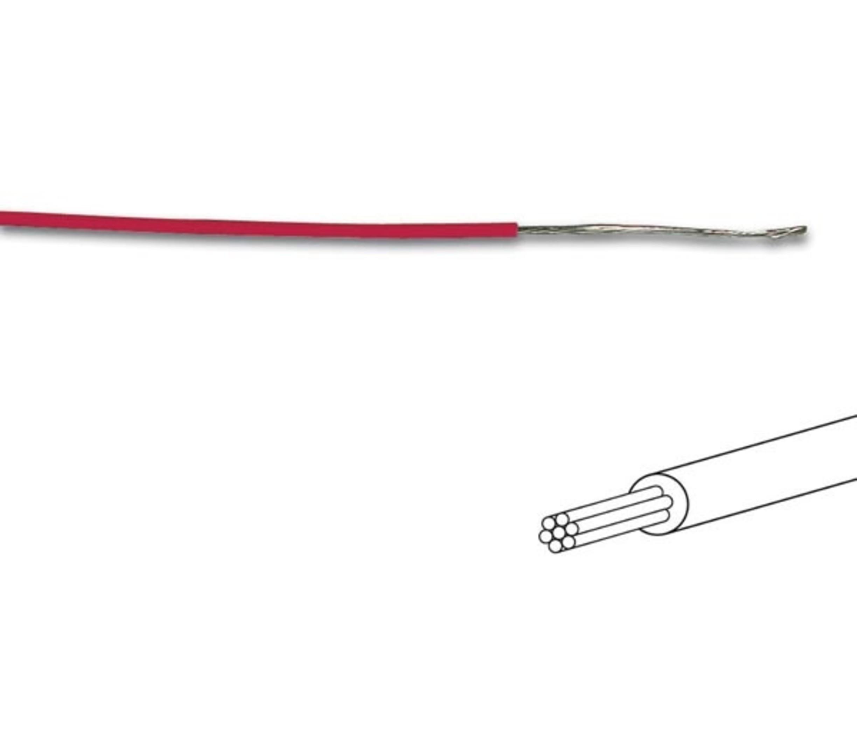 MONTAGEDRAAD  Rood 0.2 mm²  -Soepele kern 100 mtr rol