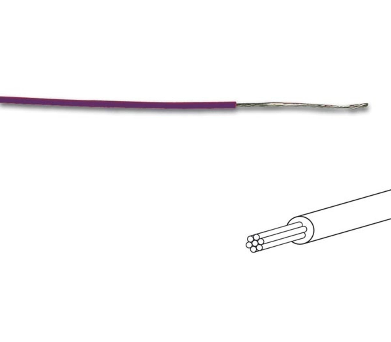 MONTAGEDRAAD  Violet 0.2 mm²  - Soepele kern 100 mtr rol