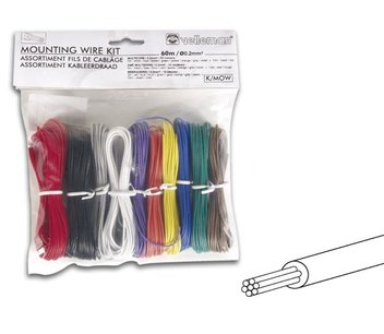 Montagedraad 10 kleuren set soepele kern