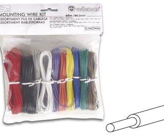 Montagedraad 10 kleuren set volle kern
