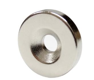Neodymium magneet met schroefgat
