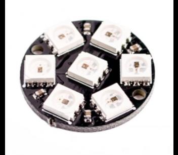 Neopixel ring 7 ws2812 adresseerbare led