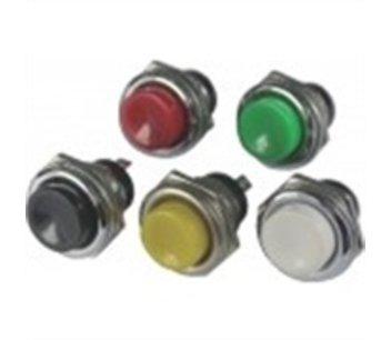 Push button 125vdc 3a zwart