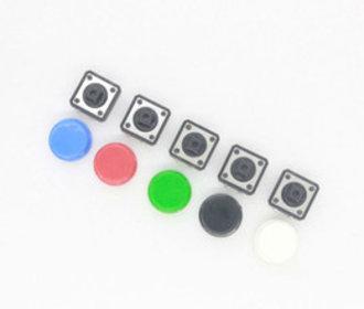 Push button set met kap 5 stuks