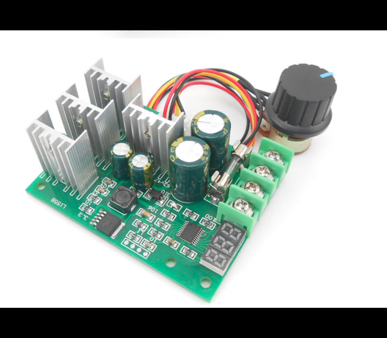PWM motor regelaar 6-60V 30A  met % display