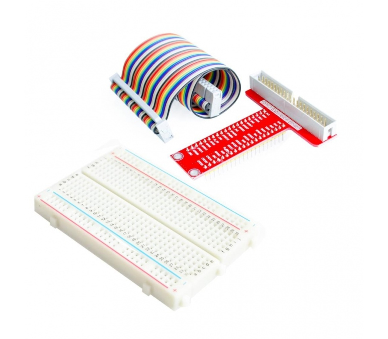 RaspberryPi GPIO kabel + expansion + 400 punts breadboard