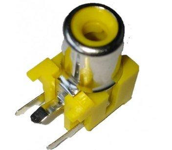 RCA tulp print connector geel