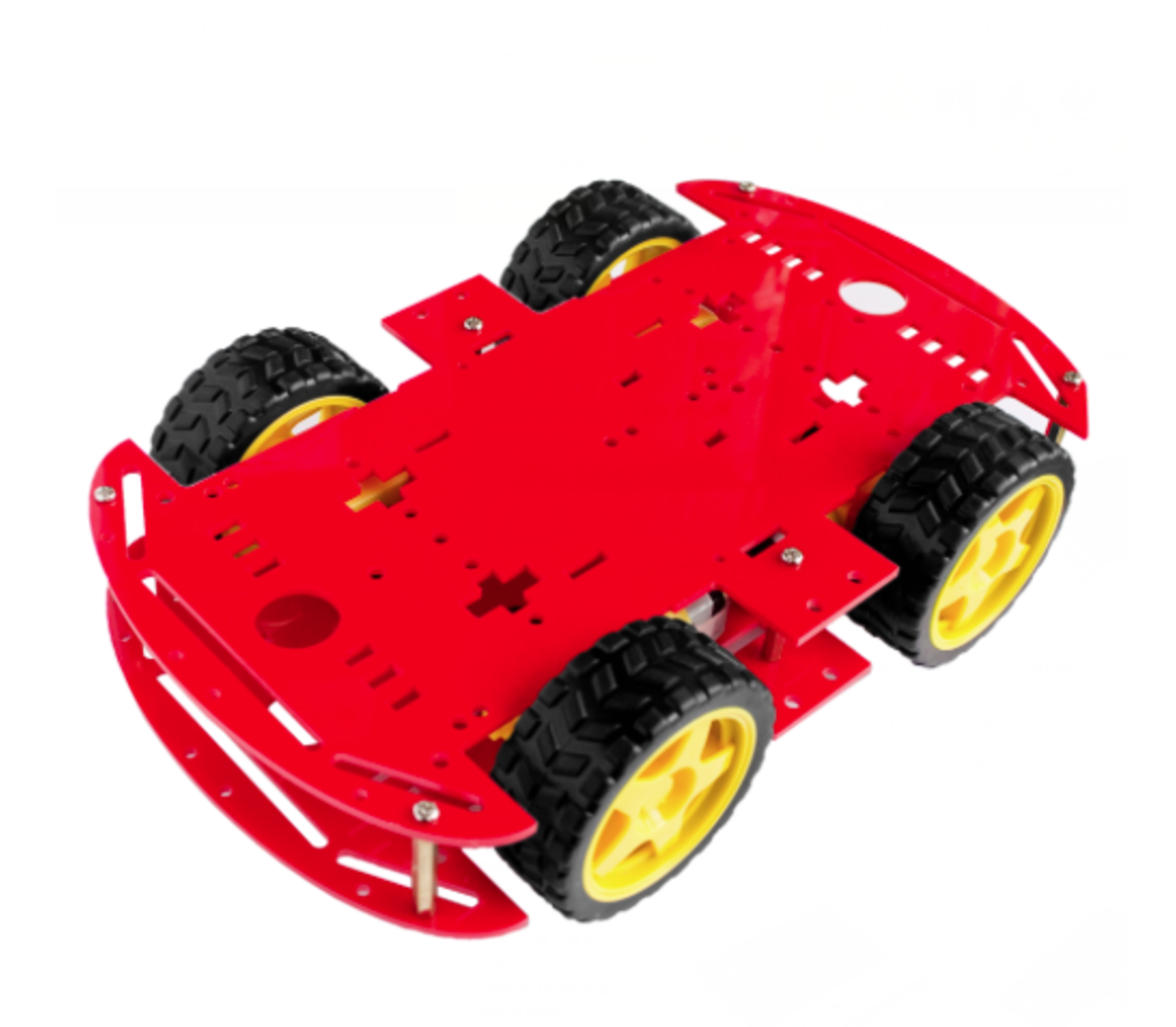 Robot auto chassis platform 4wd rood