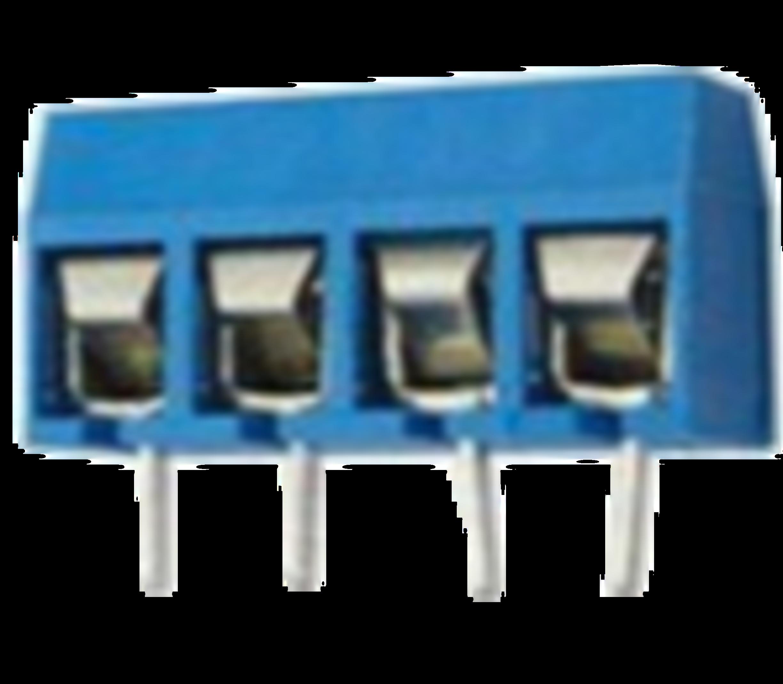 Schroefconnector blauw 4 polig