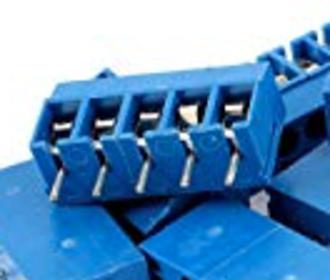 Schroefconnector blauw 5 polig