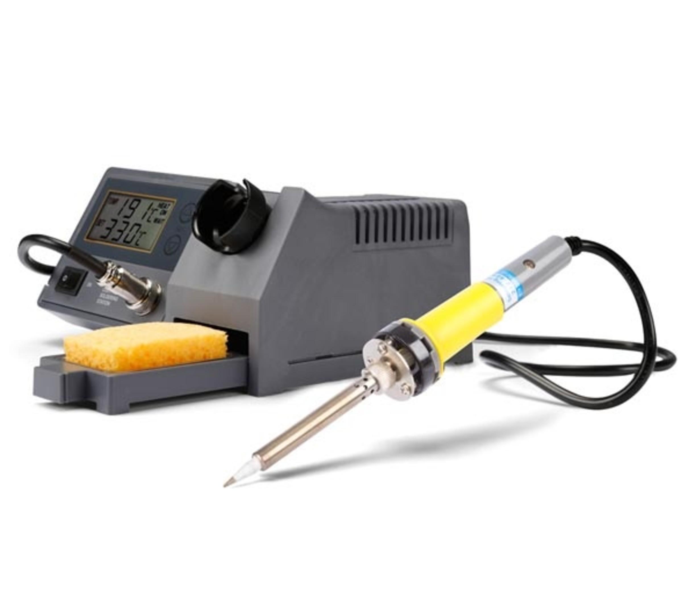 SOLDEERSTATION MET LCD  en amp KERAMISCH VERWARMINGSELEMENT - 48 W - 150-450gr
