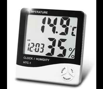 Temperatuur Hygrometer klok incl batterij