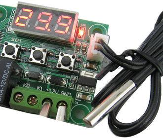 Thermostaat 12v met schakelfunctie 10A