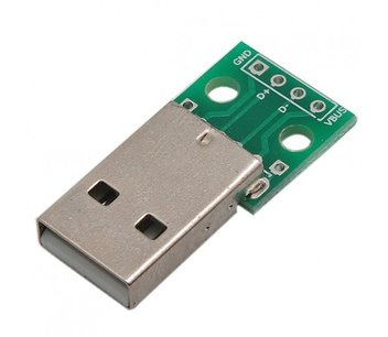 USB type A male breakout