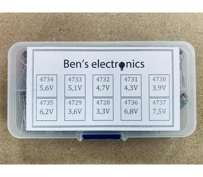 Zener diode set 200 stuks