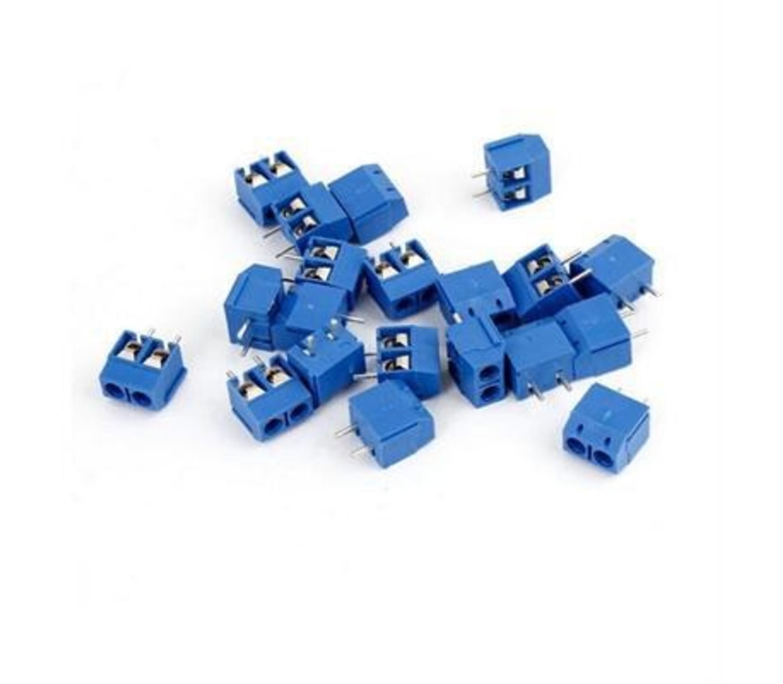 Schroefconnector blauw 2 polig
