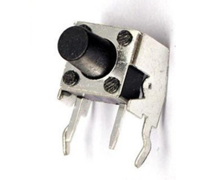Push button in verticaal houder