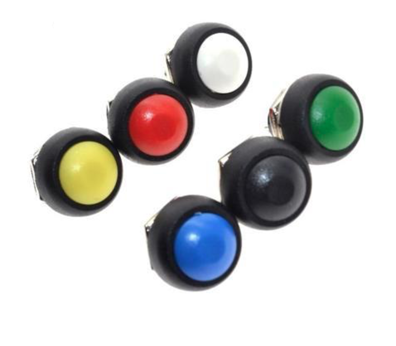 PBS33B drukknop geel terugverend maakcontact