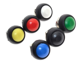 PBS33B drukknop rood terugverend maakcontact